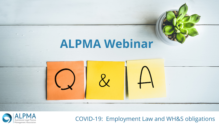 Q&A COVID-19: Employment Law and WH&S Obligations