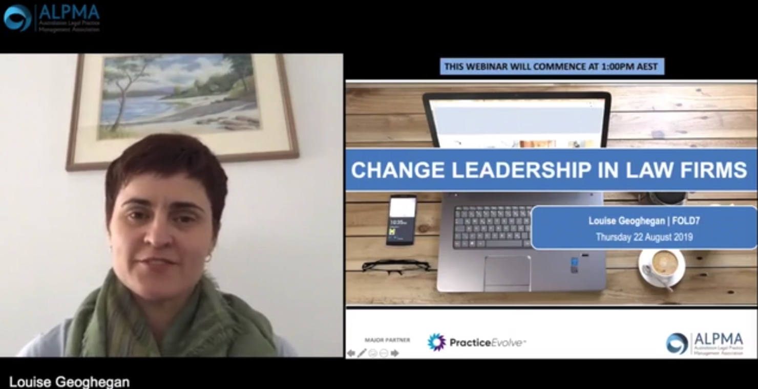 Change Leadership in Law Firms